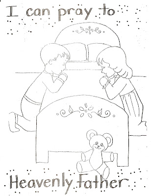 Coloring Pages on Lds Nursery Color Pages  4   I Can Pray To Heavenly Father
