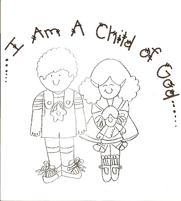 Coloring Pages on Lds Nursery Color Pages  1   I Am A Child Of God