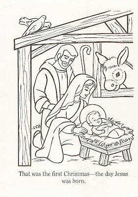 Coloring Pages on Lds Nursery Color Pages  Christmas Lesson
