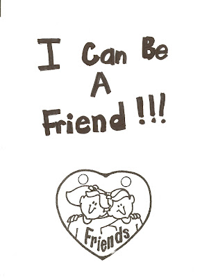 Lds Nursery Color Pages 33 I Can Be A Friend I Can Be A Friend Coloring Page