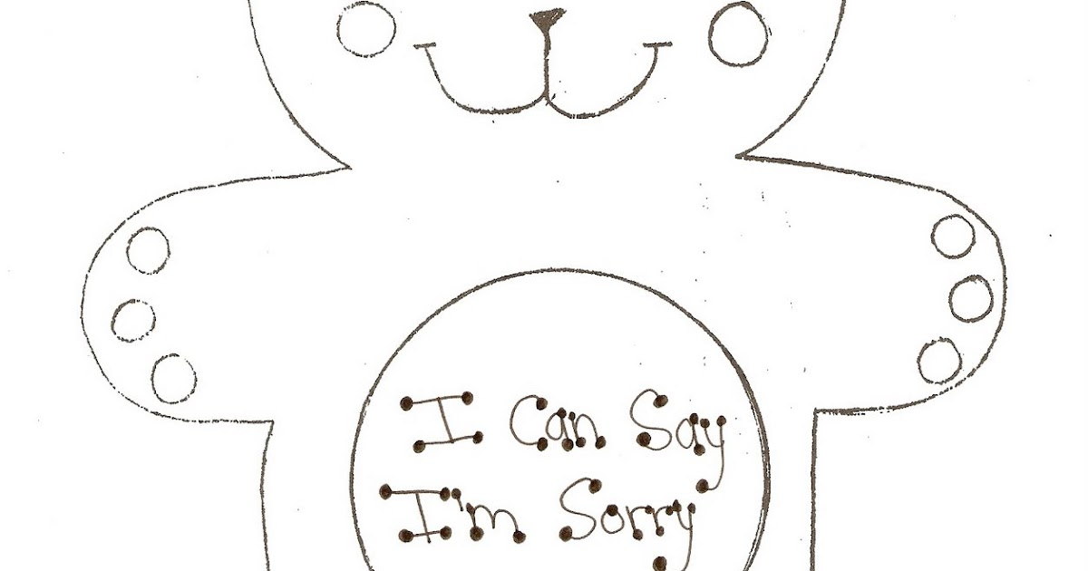 i m sorry coloring pages - photo#1
