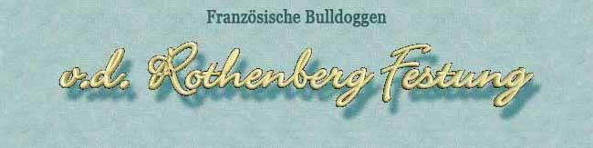 "Französische Bulldoggen ""v.d. Rothenberg Festung"""