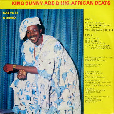 King Sunny Ade & his African Beats – Juju Music of the 80's