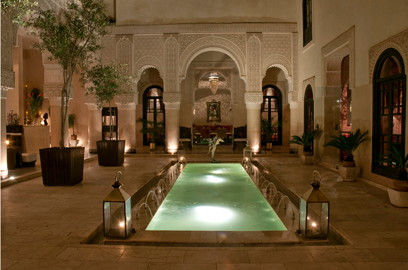 Riad fes in fez morocco more gorgeous moorish for Moroccan style house plans