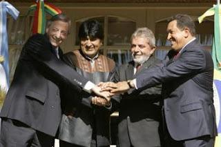 Chavez Morales Lula Kirchner