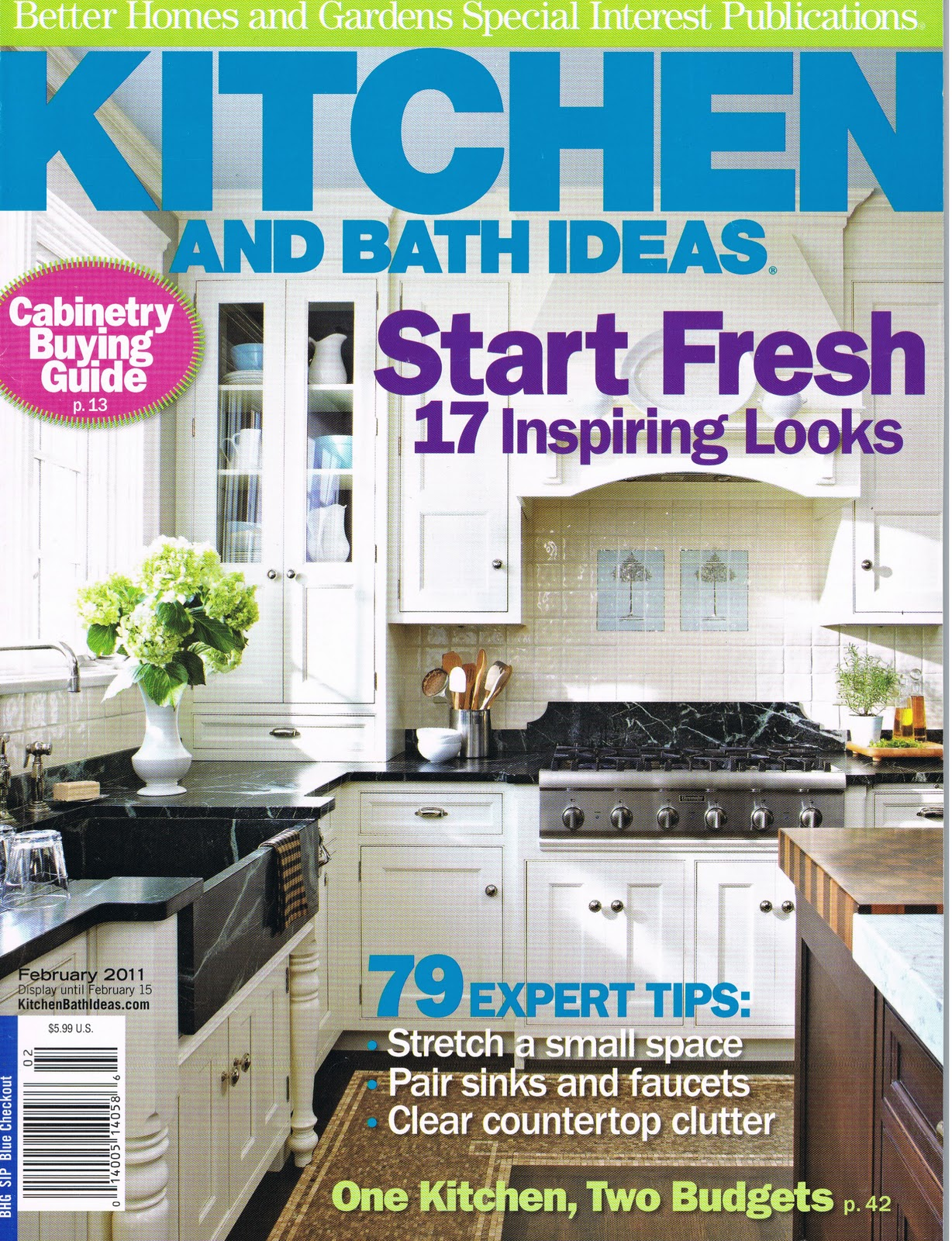 Better Homes Gardens: Better Homes & Gardens: Kitchen And Bath February 2011