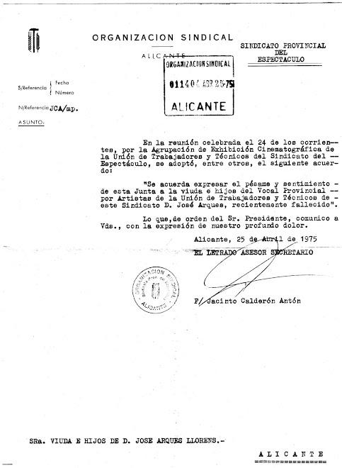 SINDICATO PROVINCIAL DEL ESPECTÁCULO