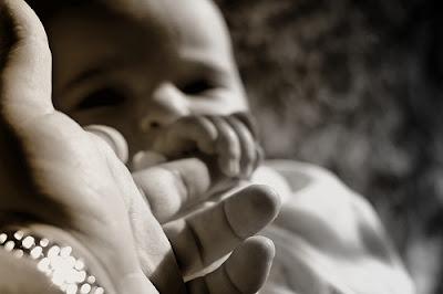 contatto, mano, neonato, bambino, contatti