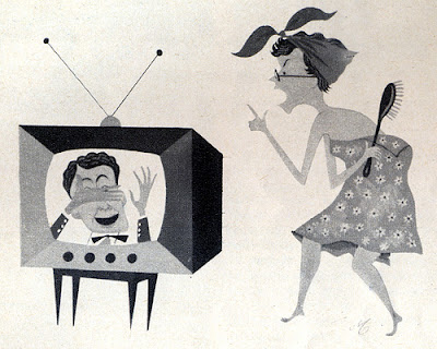 tv, televisione, vignetta, fumetto