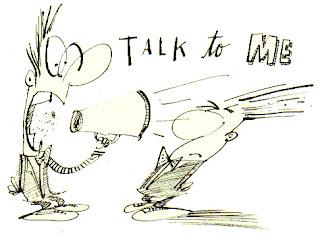 talk commento blog parlare blogger vignetta