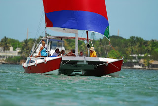 Boatsmith tiki 30 with centre rigged spinnaker