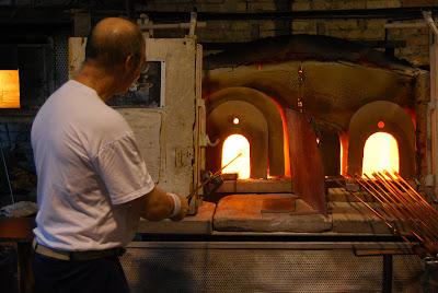 Produzione Artigianale Del Vetro.Lavorazione Del Vetro Di Murano