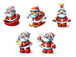 Iconos Santa Claus descarga gratis