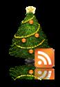 icono rss abeto de navidad