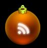 icono rss bola de navidad