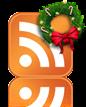 icono rss guirnalda de navidad