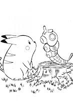pikachu para pintar