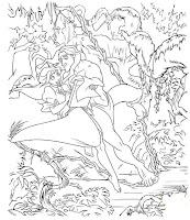Tarzan y jane para pintar gratis