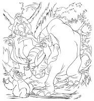 Tarzan para colorear gratis