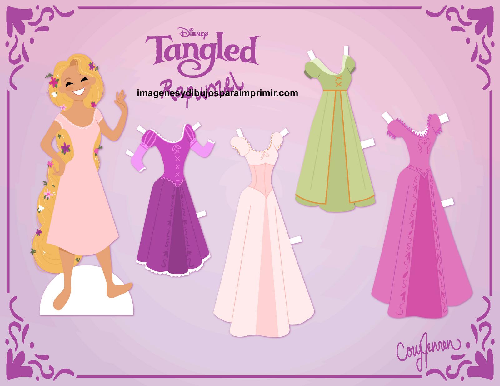 Dibujos Para Colorear De Rapunzel Bebe: Enredados Rapunzel Para Colorear