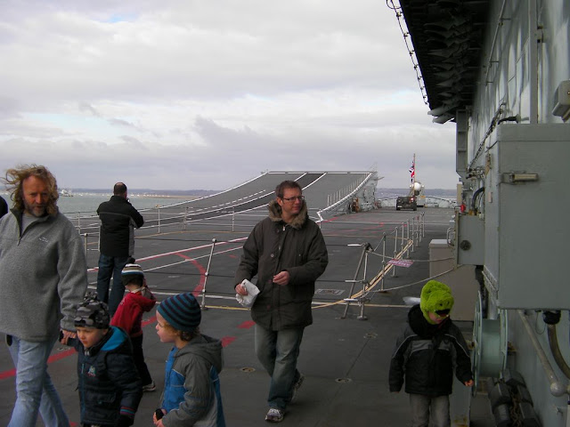flight deck runway on carrier