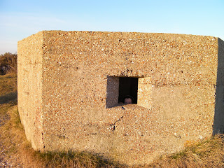 concrete bunker pill box outpost by hayling island golf club