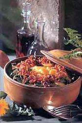 Salade au Lard dans Specialitées régionales salade