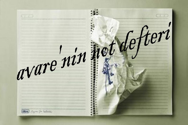 avare'nin not defteri