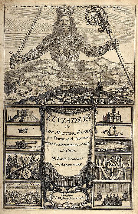 title page of hobbes's leviathan