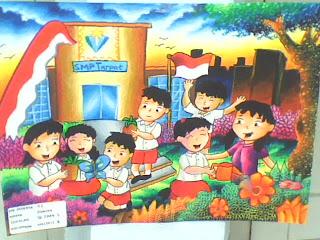 Pendidikan Sekolah Dasar Lukisan Anak Sd Gambar