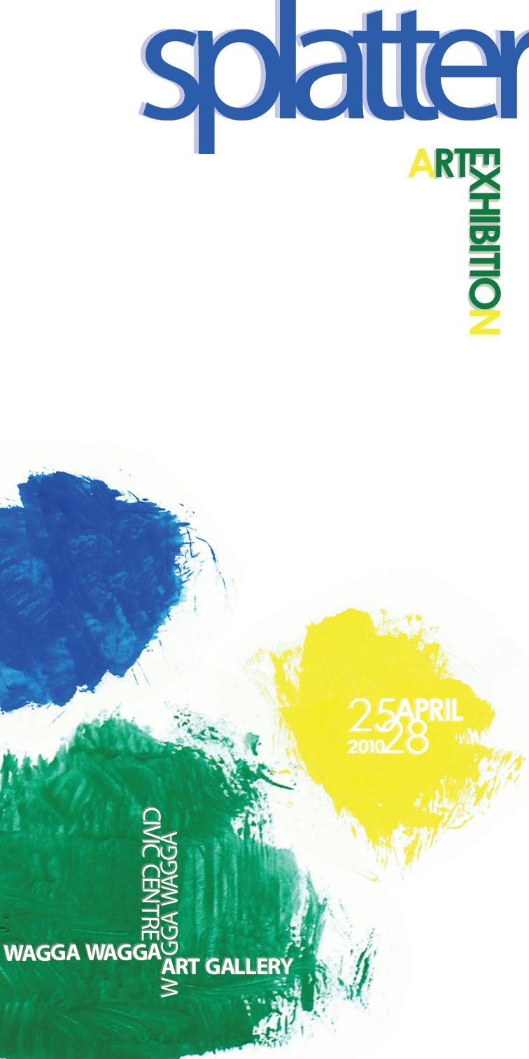 ani s design blog splatter art exhibition poster designs
