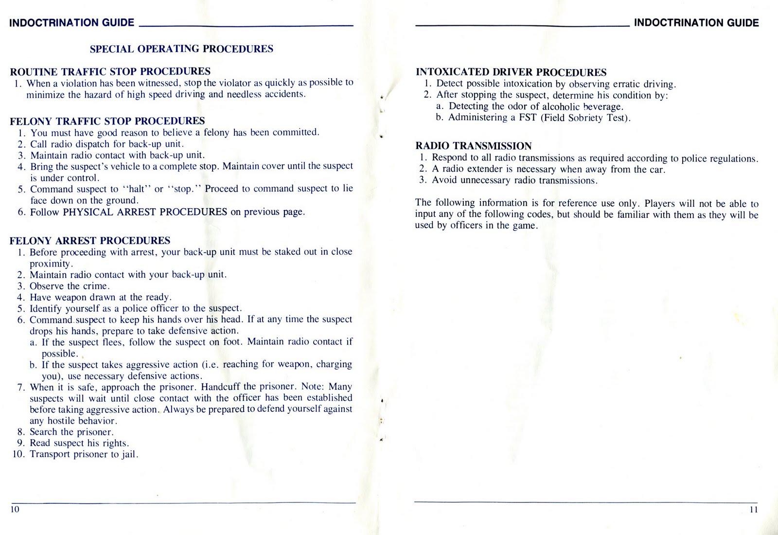 Old School SIERRA: Police Quest Manual