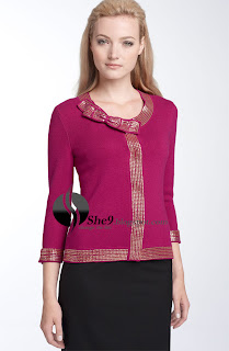 97fb5b9dbfc Needlework-front round neck Sweaters are being famous these days. At the  front of the sweater little needle floral work gives beautiful look as the  arms are ...