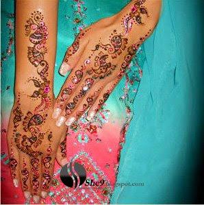 Indian Mehndi Design for Full Arm