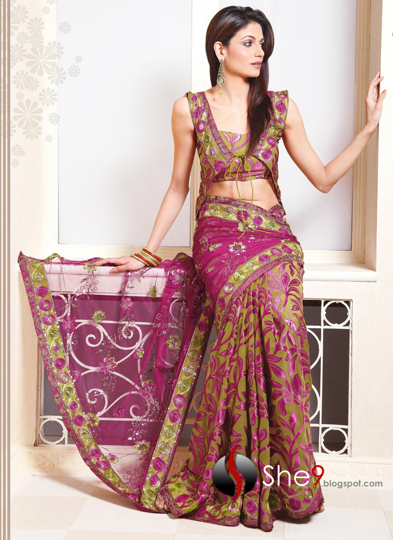 indian saree trend for parties party wear saree she9