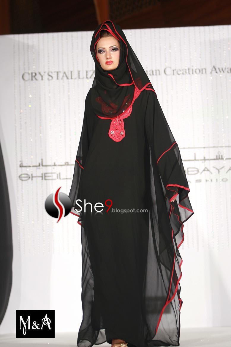 صور احدث موضة العبايات الخليجية والعربية السوداء 2011