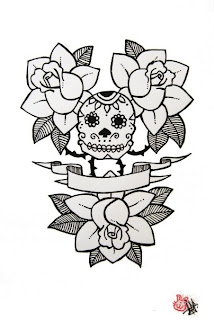 Black Redfield Calavera Rosas