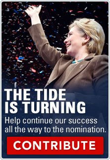 Hillary says the tide is turning