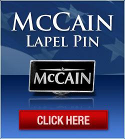 John McCain Lapel Pin