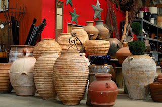 vase teracota, vase ceramica gradina, idei vase gradina romantica