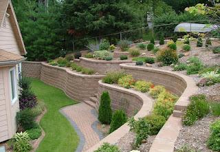 zid de sprijin in gradina, curte in panta, teren, vale, deal, ograda, gradina, design, proiect
