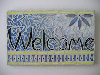 mosaic welcome sign