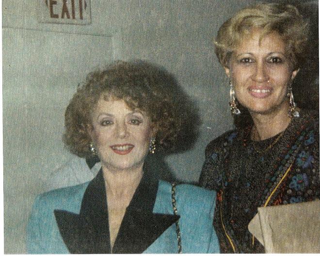 Con Delia Fiallo, escritora de novelas