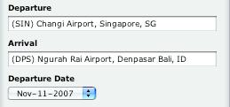 Singapur - Bali