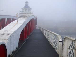 River Tyne and The Quayside in thick fog