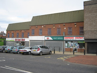 The few remaining shops on Armstrong Road