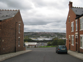 Parmontley Street with the old Scotswood railway bridge in the distance