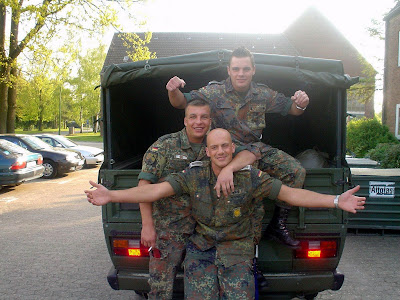 German Bundeswehr Soldier Let Army Buddies Gangbang His Horny Wife