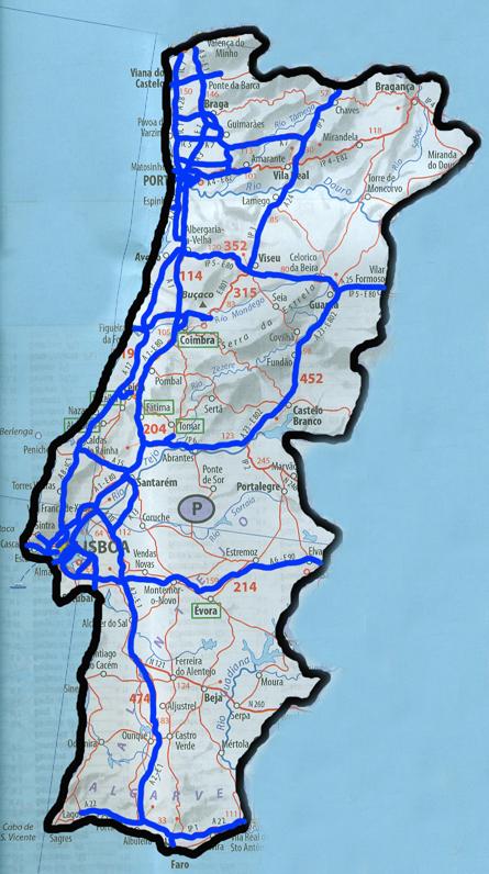 mapa de estradas portugal actualizado A Nossa Terrinha: Outubro 2010 mapa de estradas portugal actualizado