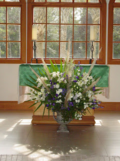 King of Peace's altar flowers